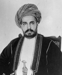 KING FOR A DAY: His Highness Sayyid Khalid bin Barghash, Sultan of Zanzibar... at least that was his title until British gunboats arrived. (Image source: WikiCommons)