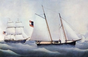 A Confederate sloop.