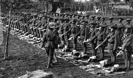 Have kukri, will travel -- Gurkhas undergo inspection on the Western Front in 1917. Today, members of the regiment fear that the current government in Nepal may outlaw the brigade's participation in the British Army.