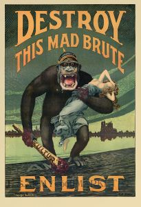 First World War anti-German propaganda. (Image source: WikiCommons)