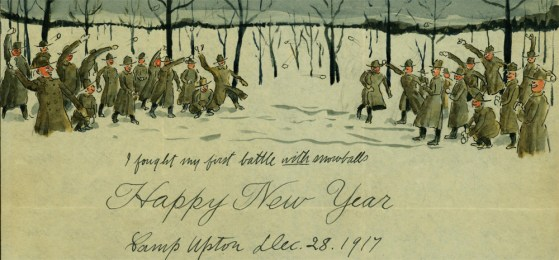 WW1 Doughboy Wishes Us All a Happy and Prosperous 1918