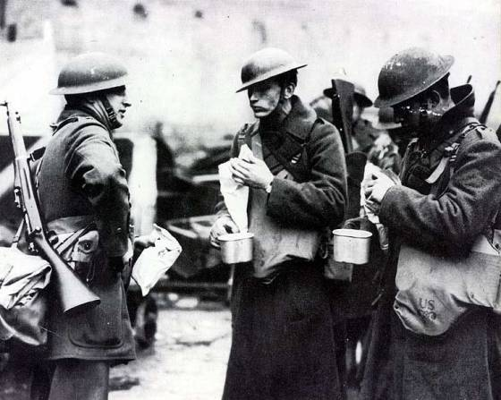 U.S. troops in Northern Ireland, 1942. American GIs occupied the north freeing up British soldiers for duty elsewhere. The Irish Republic remained neutral for the war, but both the Allies and Axis planned to send troops there if the other did first.