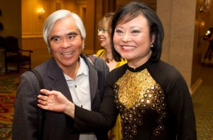 Nick Ut and Kim Phuc in Toronto, 2012. Image by Chris Young, The Canadian Press.