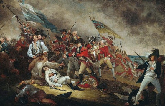The Battle of Bunker Hill. (Image source: WikiCommons)