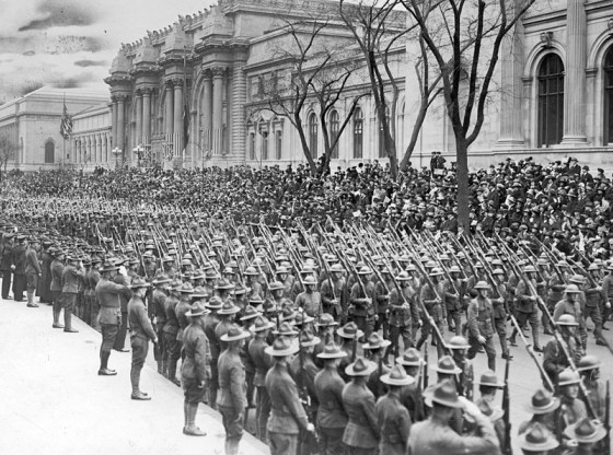 Doughboys return home after the 1918 Armistice. (Image source: WikiCommons)