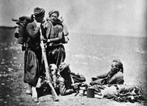 French Zouaves in the Crimean War. The once all-Algerian unites were eventually opened to veteran French soldiers.