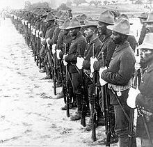 The U.S. Army's 24th Infantry Regiment. The African American unit was nicknamed the Buffalo Soldiers.