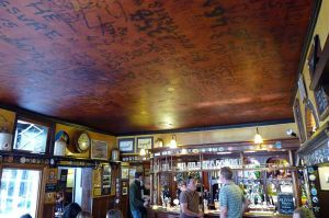 RAF fliers used to scrawl their names on the ceiling of Cambridge's Eagle pub.