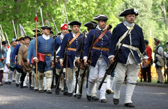 Sunday's re-enactment, which took place on the sprawling park lands south of the fort,  showcased the failed attempt by the French to lift the siege.