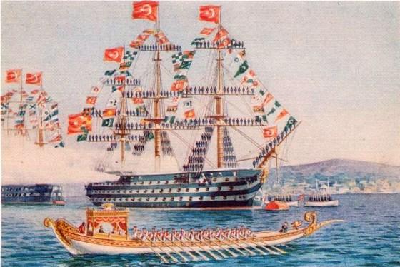 The 'galleon' Mahmudiye at Istanbul.