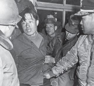 North Korean commando Kim Shin-Jo at the moment of his capture in 1968.
