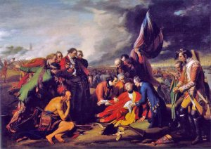 The death of British general Wolfe at Quebec in 1759. Winston Churchill argued that the Seven Years War was actually the first 'world war'.