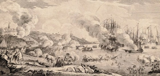 Britain's 1758 cross channel raid on the French coast ended in catastrophe at the Battle of Saint Cast.