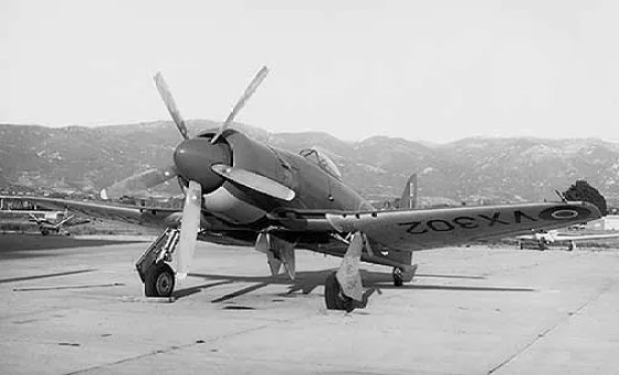 A British Hawker Sea Fury like this one managed to down a MiG-15 in 1952.