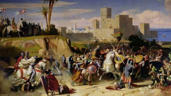 English and French knights fought and died by the thousands during the Crusades.