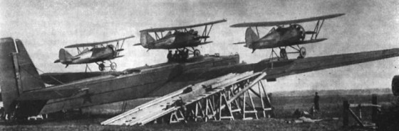 The Zveno project saw Russian bombers equipped to launch and recover fighter planes in mid-air.