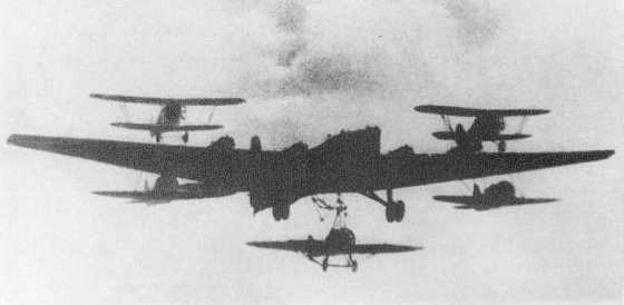 Between 1917 and 1942, Britain, the U.S. and the Soviet Union experimented with the idea of flying aircraft carriers.