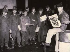 German prisoners learn that they will soon be returning home following the fall of Berlin in 1945.
