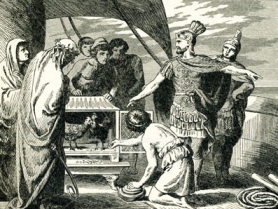 Publius Claudius Pulcher orders sacred chickens tossed overboard before the Battle of Drepana in 249 BC. An insult to the gods?