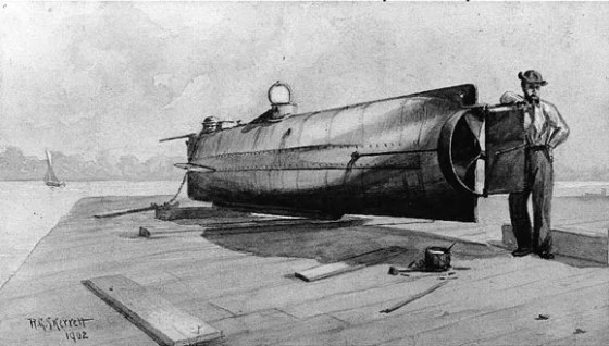 The H.L. Hunley launched the world's first successful submarine attack in history 150 years ago this week wasn't the only submersible fighting vessel of the Civil War.