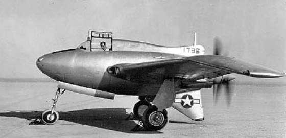 The magnesium Black Bullet XP-56.