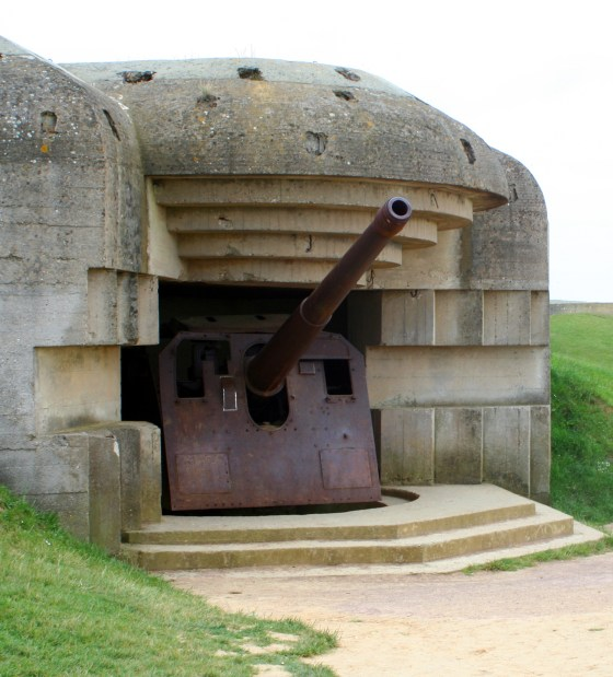 An abandoned gun position today.