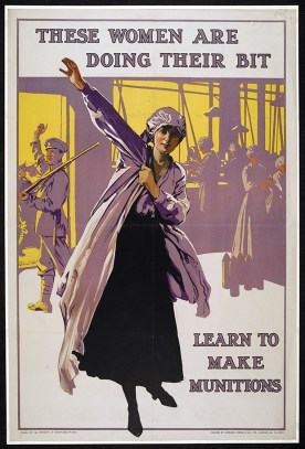An appeal to the women of Britain to join the war effort.