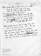 "A first draft of Wilfred Owen's ""Anthem for the Doomed""."