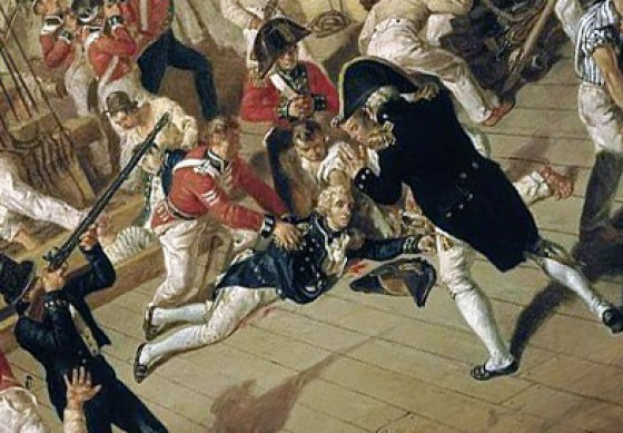 Did Lord Nelson invoke God and country or ask for a kiss as he perished aboard HMS Victory?