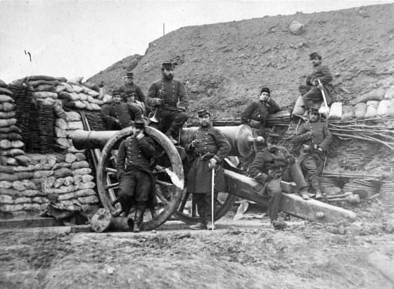 French gunners during the Franco Prussian War, 1870.
