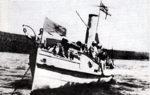 HMS Fifi was one of the Royal Navy armed motor boats used in the battle for Lake Tanganyika. The other British craft were HMS Mimi and HMS Toutou.