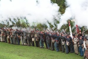 Confederate reenactors in the UK. Image courtesy WikiMedia.