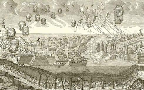 A French airborne assault of Great Britain by balloons? Many in England believed Napoleon would stop at nothing to land his army in the United Kingdom.