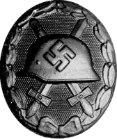 A German Wound Badge from the Second World War. Soldiers and civilians alike received this medal for injuries sustained as a result of battle.