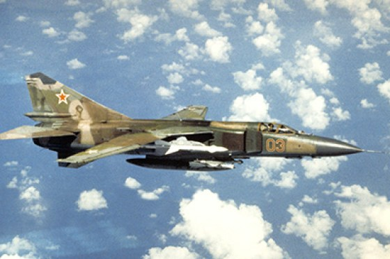 Cuban MiG-23 warplanes performed airstrikes against South African forces in Namibia during the 1987 Battle of Cuito Cuanavale.