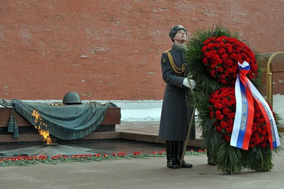 Russia's unknown soldier monument contains the remains of soldiers killed halting the German advance on Moscow in 1941.