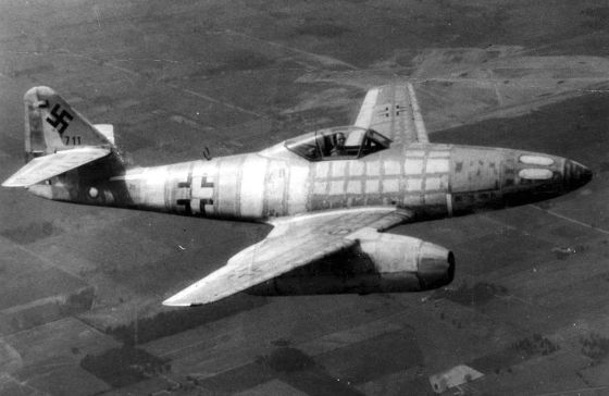A Me-262 pilot became history's first jet ace in 1944. (Image source: German Federal Archive)