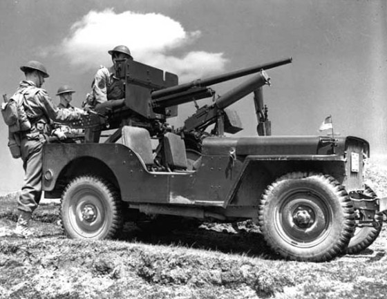 A tank-killing jeep is equipped with a 37-mm gun. (Image source: WikiCommons)