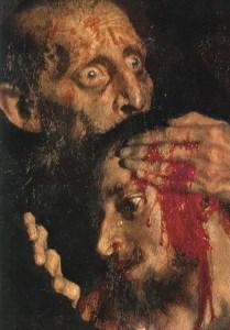 An insane Ivan the Terrible murders his own son.