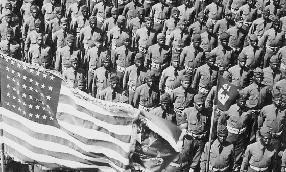 The United States had 12 million men in uniform in 1945. More than 60 percent of them were stationed abroad. (Image source: WikiCommons Media)