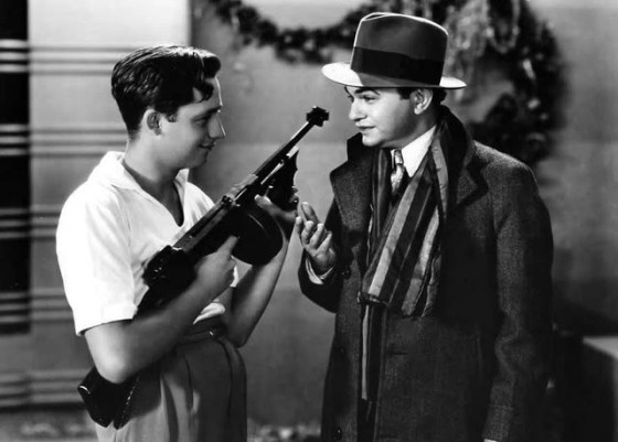 Edward G. Robinson (right) in the 1931 gangster film 'Little Caesar.'