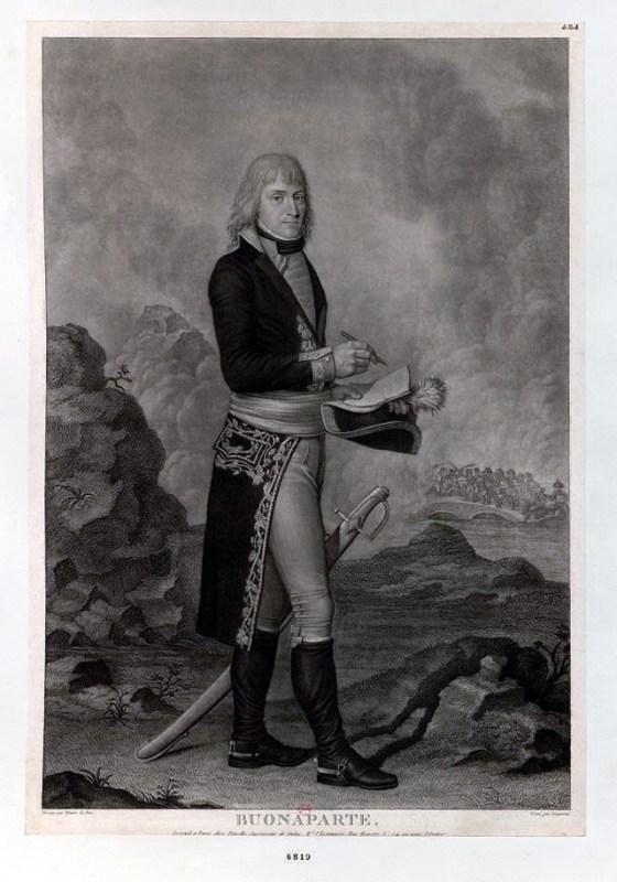 Buonaparte, ca. 1796, by Hilaire Le Dru (engraver Pierre Charles Coqueret). Bibliothèque nationale de France.