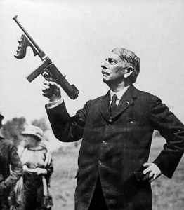 John Thompson and his famous machine gun.