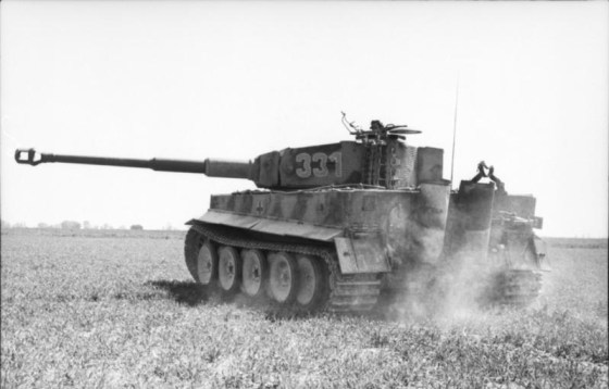 A Tiger in action. (Image source: German Federal Archive via WikiCommons)