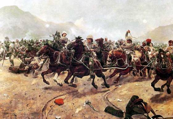 Royal Horse Artillery flees from an Afghan assault at Maiwand. (Image source: WikiCommons)