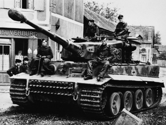 The outer set of the interleaved road wheels can be seen in this picture. (Image source: GermanWarMachine.com)