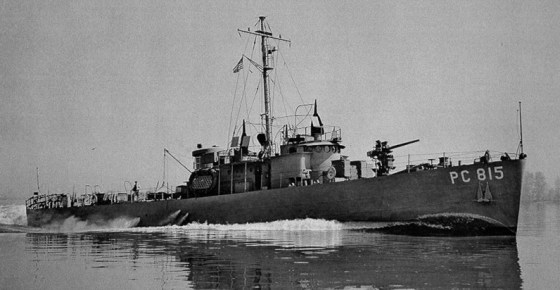 Sub chasers like this one were instrumental in Cuba's U-boat war. (Image source: WikiCommons)