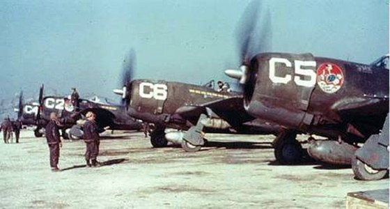 Brazilian p-47 Thunderbolts in Italy. 1945. (image source: WikiCommons)