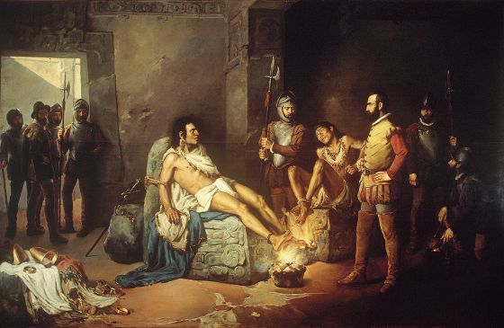 The Aztec emperor witnessed the downfall of his civilization on a Friday the 13th. And if that wasn't bad enough, his Spanish conquerors tortured him the very same day. (Image source: WikiCommons)