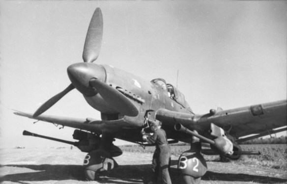The Ju-87G was armed with a pair of 37 mm anti-tank guns. (Image source: German Federal Archive)